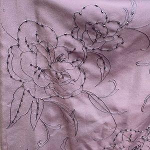 Ann Taylor petite size 4 silk beaded skirt long